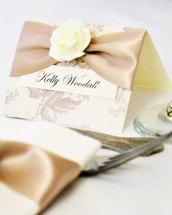 Beautiful, themed name place cards