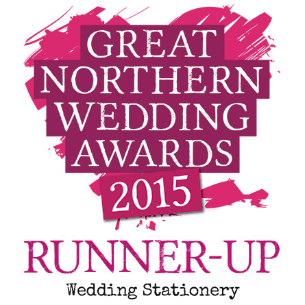 Charlotte Designs - Great Northern Wedding Awards 2015 Wedding Stationery Runner Up
