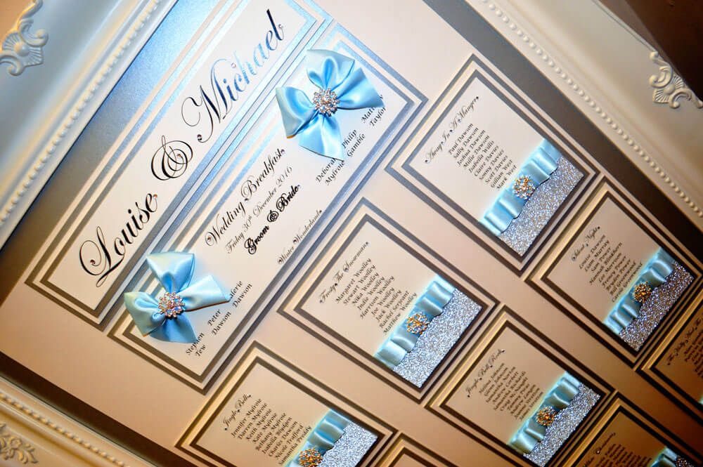 Magical Winter Wonderland themed table plan