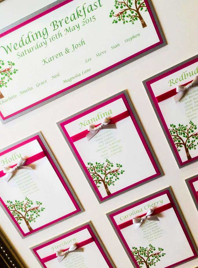 Beautiful tree table plan by Charlotte Designs