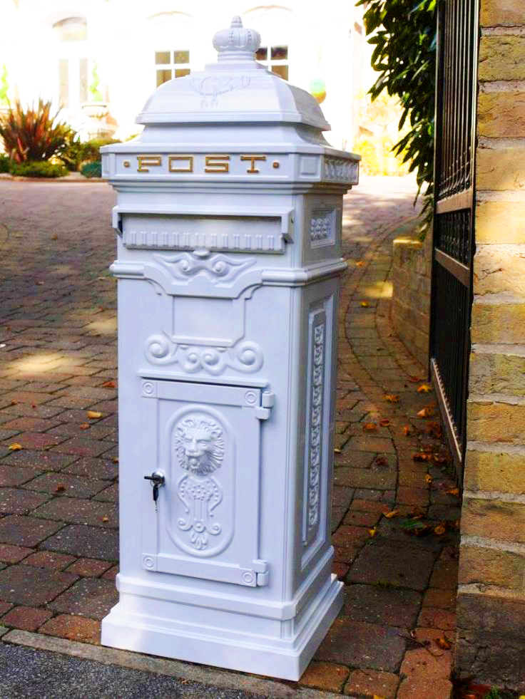 White Victorian wedding card post box