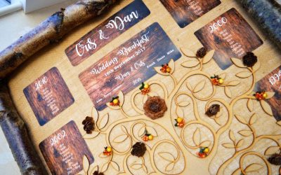 Beautiful Autumnal Wedding Stationery for Cris & Dan